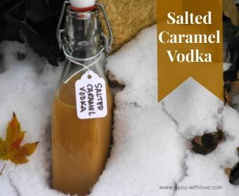 Salted Caramel Vodka labeled